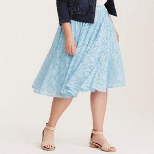 Blue lace skirt Torrid